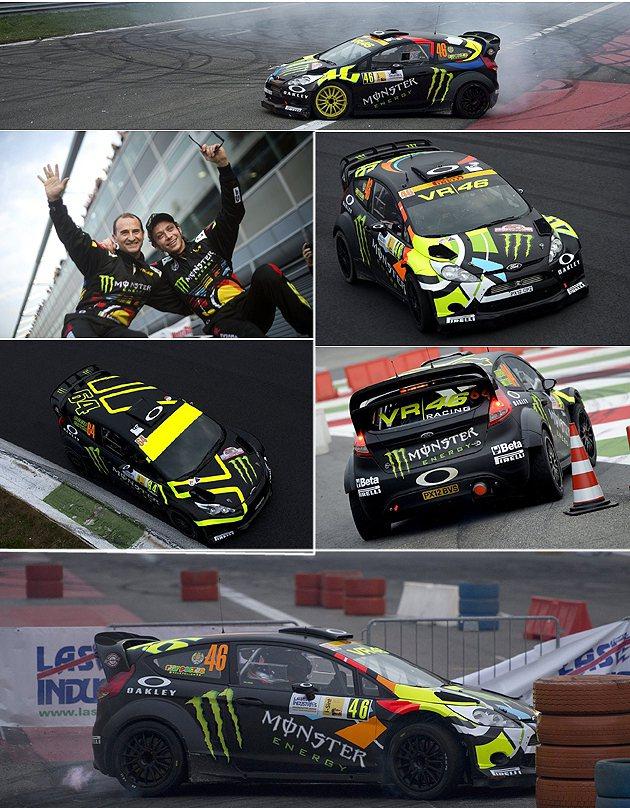VR46賽車的塗裝真帥。 Monza Rally Show