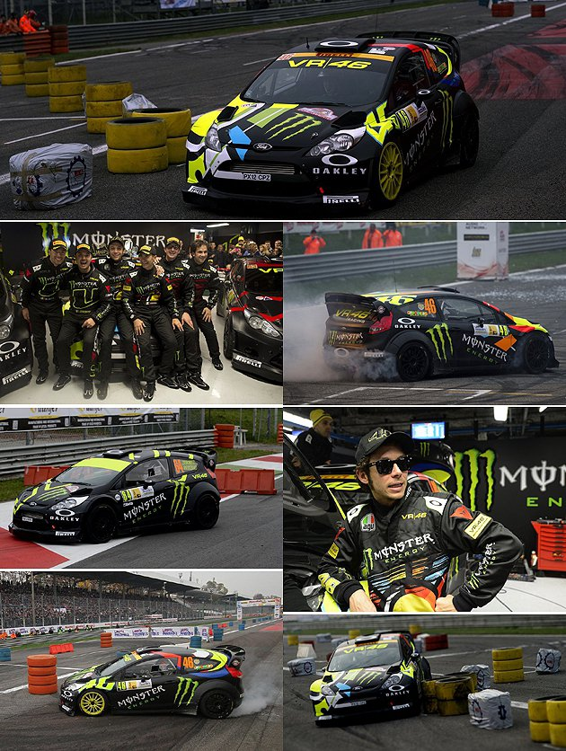 vr46車隊在去年有相當精彩的過關演出。 Monza Rally Show