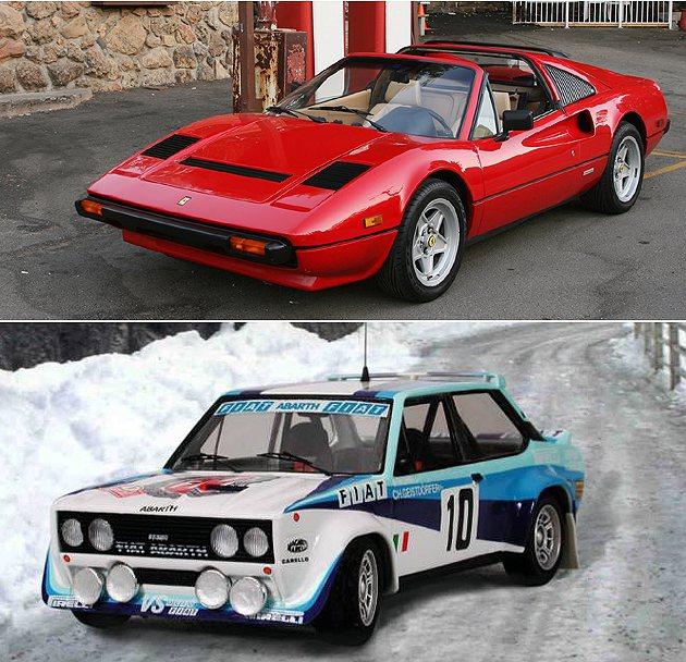 上為Ferrari 308,下為Fiat 131 Abarth。 Ferrari...