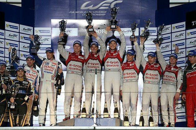 2013年WEC世界耐力錦標賽事第7站賽事,最終比賽結果由1號Audi R18 ...