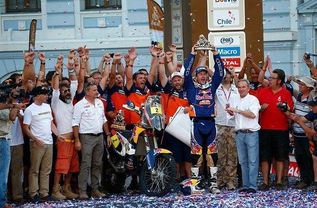 機車組為KTM西班牙選手Marc Coma拿下冠軍。 Dakar Rally官網