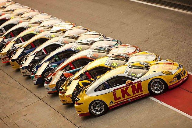 28台全新Porsche 911 GT3 Cup(991款)賽車將閃亮登場。 保時捷卡雷拉盃