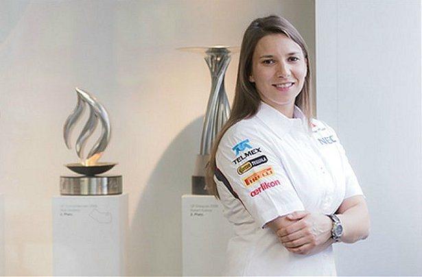 Simona de Silvestro的目標是要在2015年爭取成為F1正式車手。 Sauber F1 team
