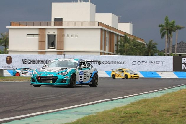 台灣速霸陸車隊以Subaru BRZ一舉拿下2014 TSF台灣大賽車的首場勝利。 Subaru提供