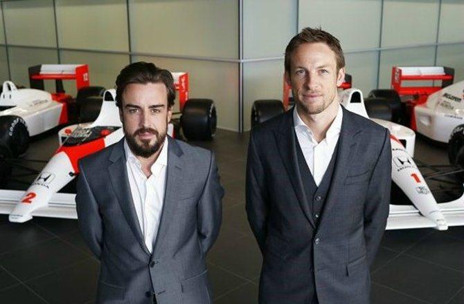 Fernando Alonso(左)與Jenson Button兩位車手經驗豐富...