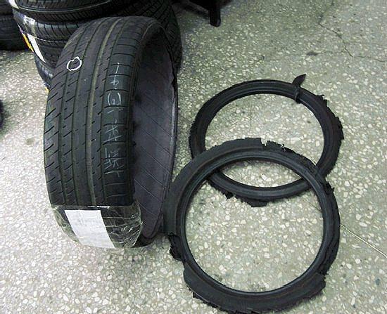 輪胎缺氣行駛,導致異常熱度累積和不可修復的損壞。 米其林