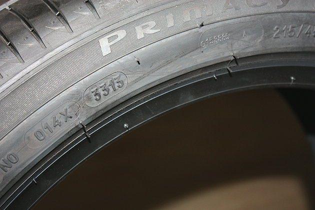 3313代表2013年第33週所生產的輪胎。 記者林和謙/攝影