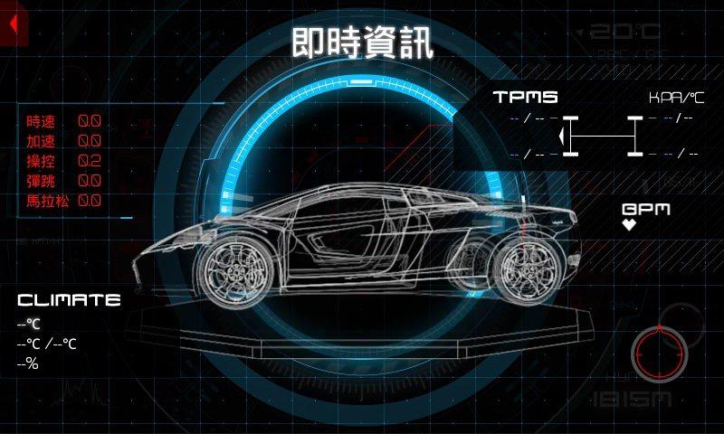 ADE-1內建的感知器,能偵測行車資料,讓螢幕顯示即時行車里程、車速等資料。 Adenovo提供
