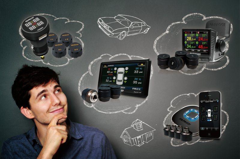 安裝胎壓偵測器能有效警示胎壓不足事故。 研勤科技提供