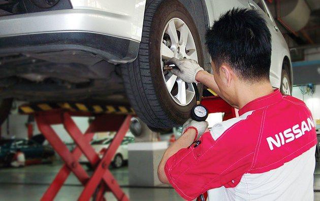 Nissan「夏雨不怕」雙效健檢活動,提供包含空調、冷卻系統、輪胎等26項雨季及...