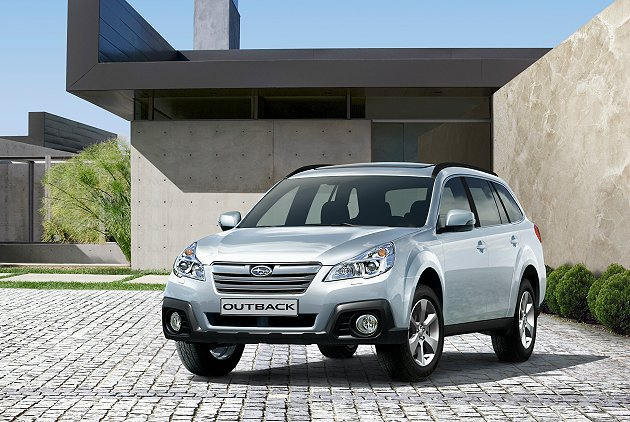 Subaru Outback連續兩年獲環保署環保車肯定。 Subaru