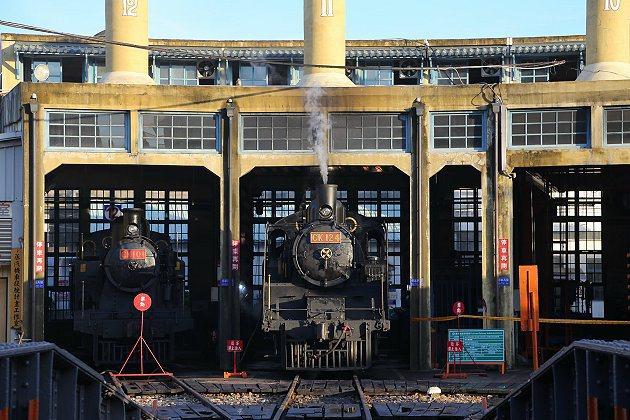 國寶級蒸汽火車CK124出發。 中華汽車