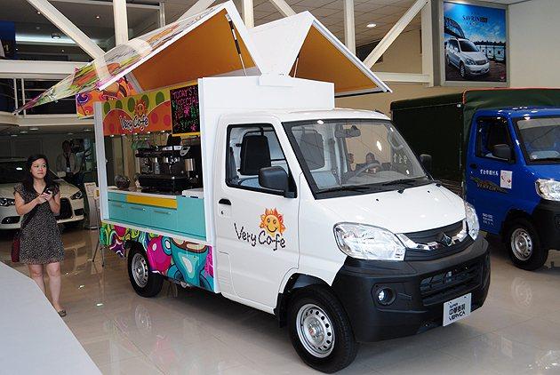 由veryca改裝的行動咖啡車。 蔡志宇