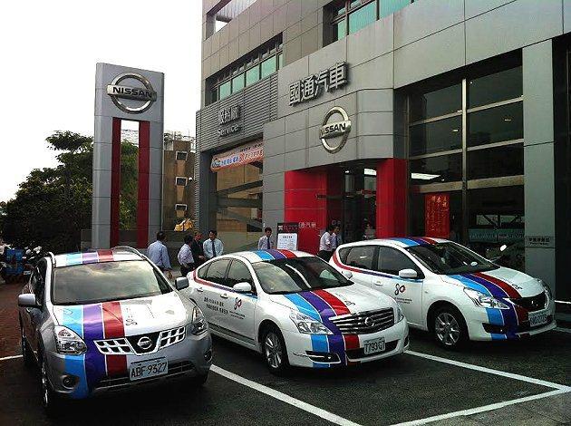 Nissan 80週年彩繪車吸引目光及試乘排隊人潮。 Nissan提供
