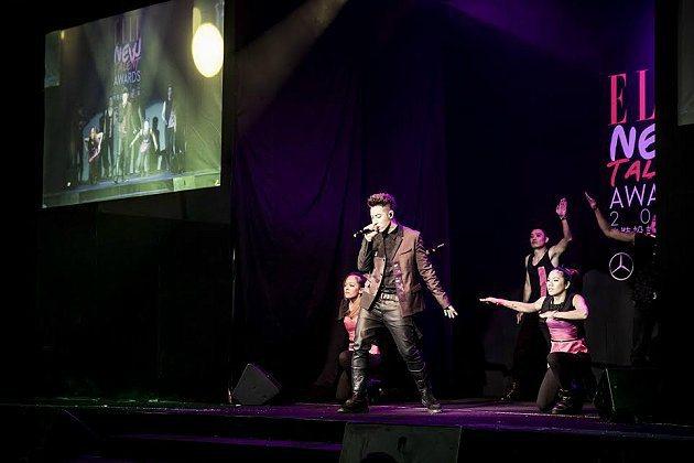 潘瑋柏熱力獻唱,鼓勵潛力新世代圓夢。 台灣賓士提供