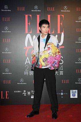 【ELLE時裝設計新銳大賞】形象大使蕭敬騰。 台灣賓士提供