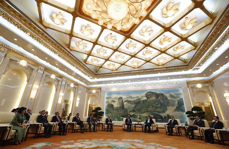 亞洲基礎建設開發銀行(簡稱亞投行),去年10月在北京舉行創始儀式。 圖/路透