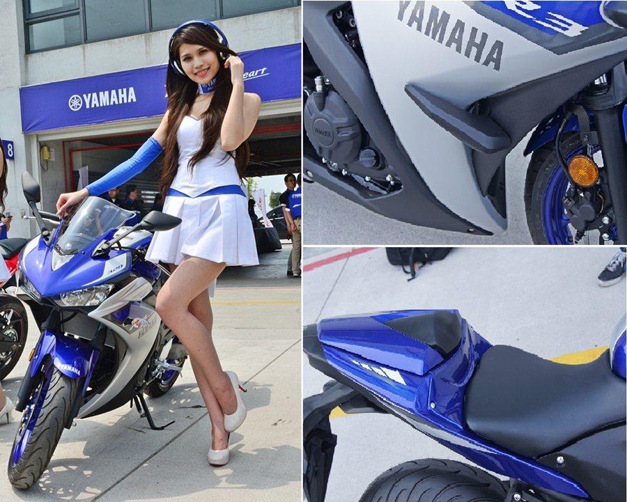 台灣Yamaha也同步引進原廠精器配件,包括側面保護架和運動造型風鏡與單座墊蓋等...