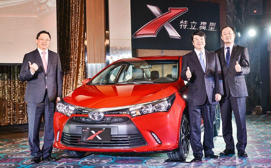 Toyota X共有X經典版、X豪華版與X尊爵版三個車型,售價各為68.8萬、7...