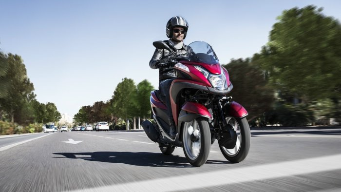 交通部考量人口高齡化為由在2015年全面解禁3輪車款。 Yamaha提供