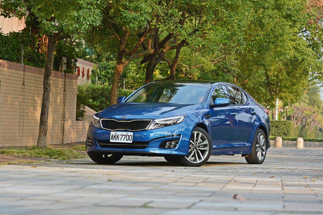 國內中大房車市場逐漸縮減,具品牌象徵性意義的Kia Optima選擇以進口身分抵台 記者許信文/攝影