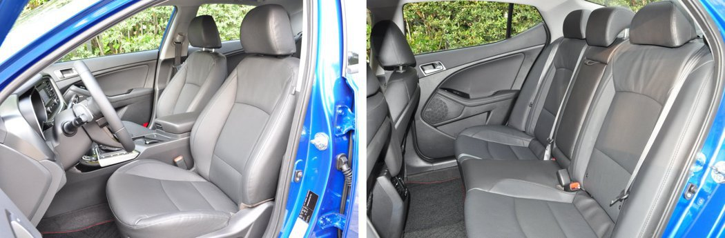 駕駛座附8向可調記憶座椅,前後座椅採用透氣皮質且乘坐空間寬裕。_ 記者許信文/攝影