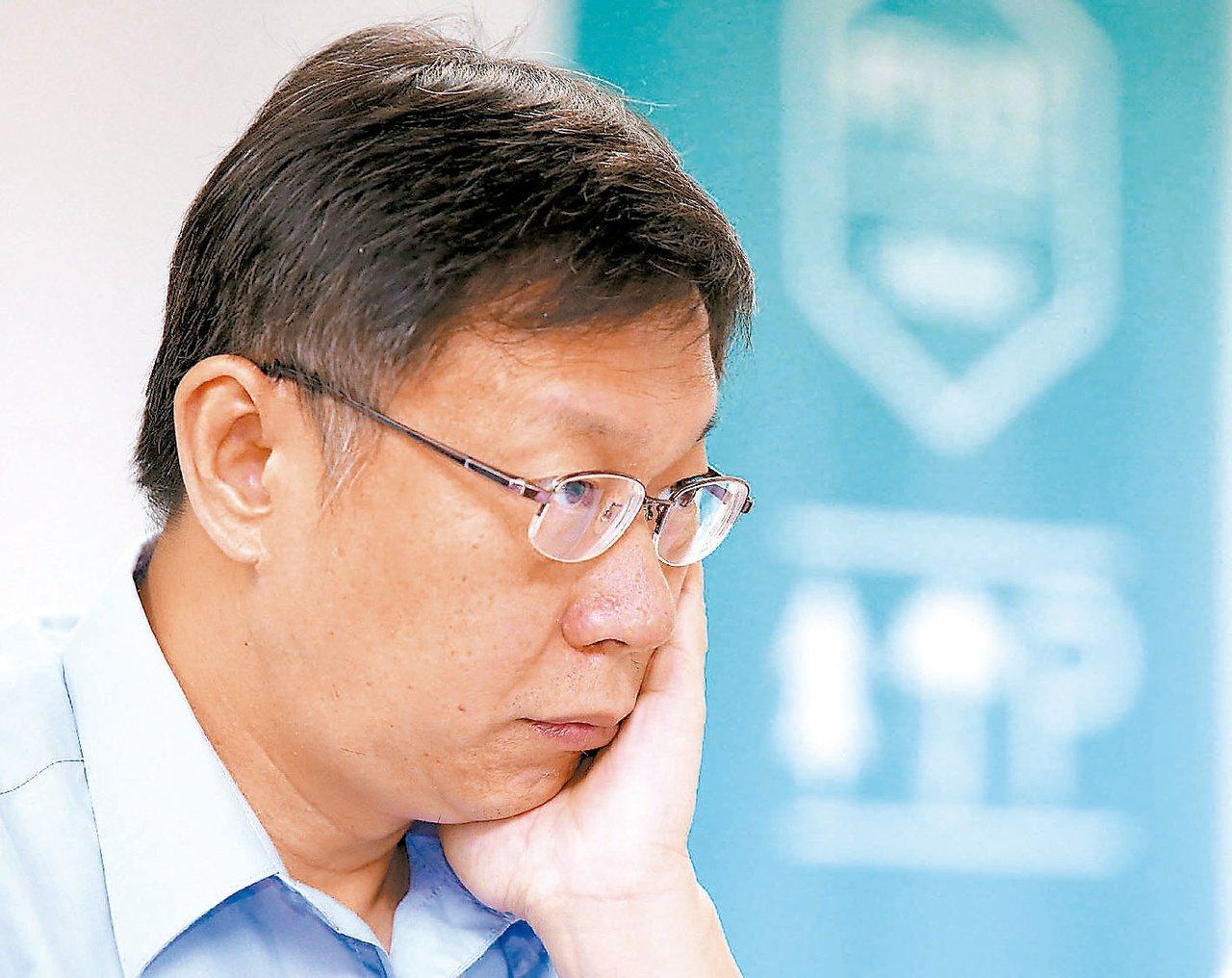台北市長柯文哲。 聯合報系資料照