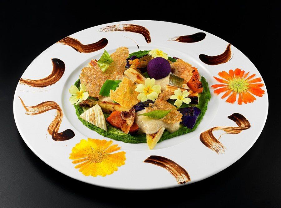 Pietro Leemann為雲品和君品酒店所推出素食料理,田園好風光。