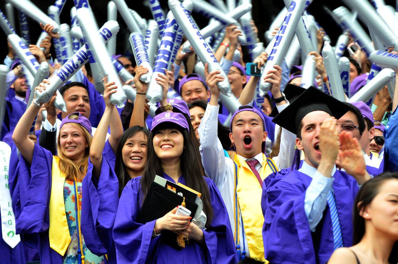 圖為紐約大學的畢業典禮。 記者許振輝/攝影