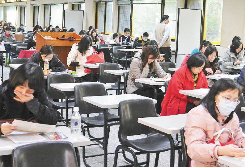 圖為公職考試考場。報系資料照