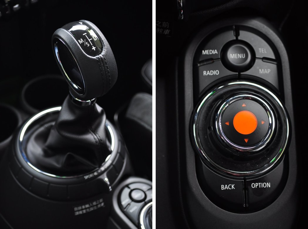 中控鞍座的六速變速箱(附運動化模式/節能模式切換)及其後方Mini Controller。 記者許信文/攝影