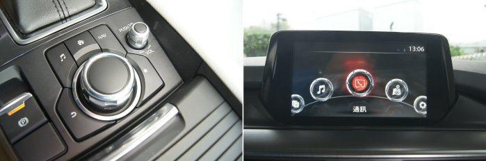 新年式Mazda 6原廠也加入Mazda Connect多媒體系統,搭配旋鈕控制十分便利。 記者林翊民/攝影