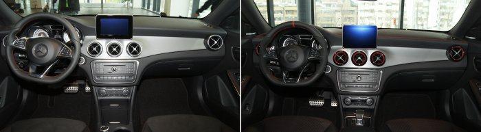 左圖為搭載AMG套件的CLA250,右圖為CLA45 AMG。 記者林翊民/攝影