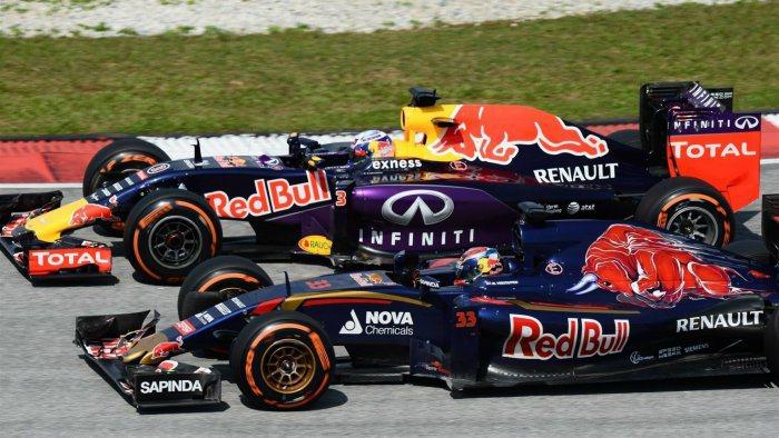 小牛Toro Rosso車隊本站雙雙排在紅牛車隊前頭,引擎供應商雷諾的技術長已表...