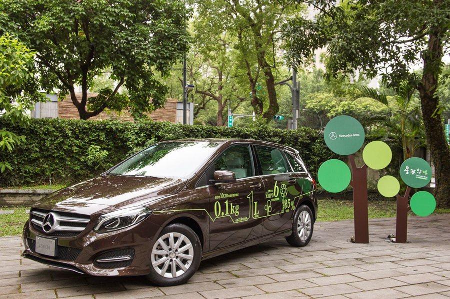 賓士旗下有50款以上的二氧化碳排放量均低於120g/km的環保車款,如B_200...