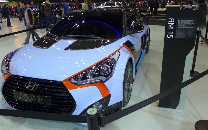 Hyundai於的首爾車展上,發表全新中置後驅車款RM15。 Hyundai提供