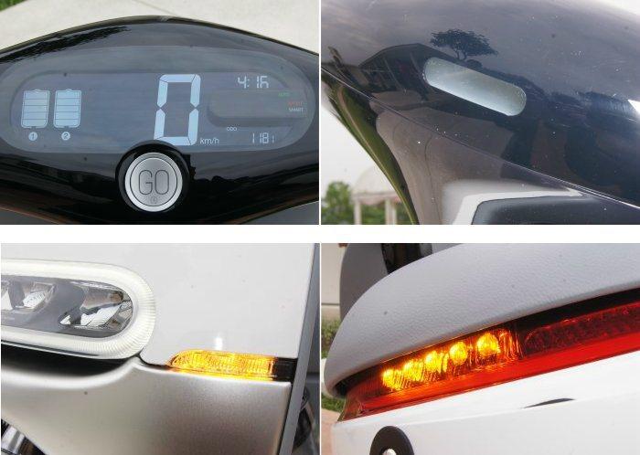 所有管線均隱藏在龍頭內部,搭配大型液晶數位儀錶組營造簡潔感。至於前方則具備煞車油壺檢查視窗,另外頭尾燈組也均採用LED照明。 記者林翊民/攝影