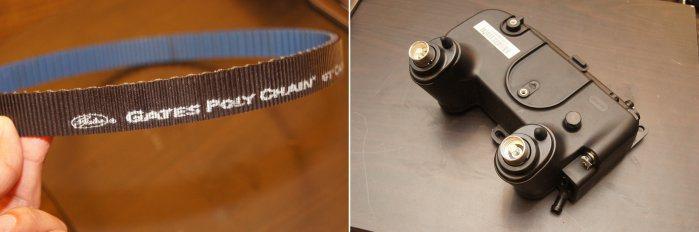 傳動箱皮帶採用大廠Gates碳纖維皮帶,而左圖控制器也加入水冷管,設計相當細心。...