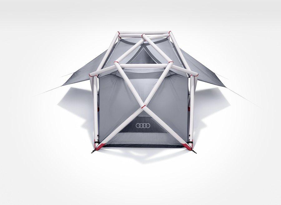 Audi帳篷是與帳篷製造商Heimplanet合作開發,為當今最穩固的菱形帳篷結構。 Audi Taiwan提供