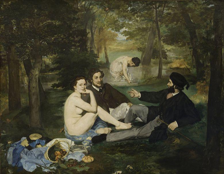 馬奈《草地上的午餐》1863