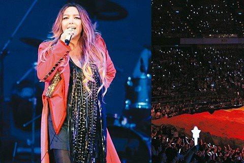 阿妹多年來以歌、以行動支持同志,從演唱會上揮舞彩虹旗到彩虹熱氣球,這次更耗資50多萬元,依小巨蛋尺寸訂製重100公斤的紗質彩虹旗,在唱到「彩虹」時,由舞台前方展開、延伸、覆蓋整個一樓區,場面壯闊。她...
