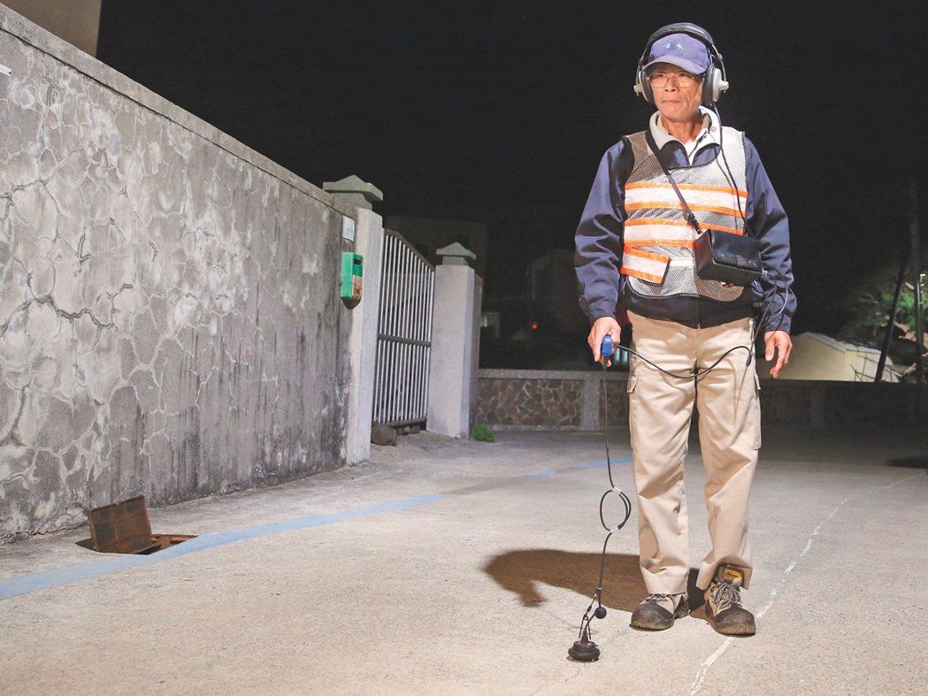 台水金牌檢漏教官蘇隆盛。 記者潘俊宏╱攝影