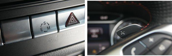B200搭載行車模式可調系統,以及方向盤換檔撥片。 記者林翊民/攝影