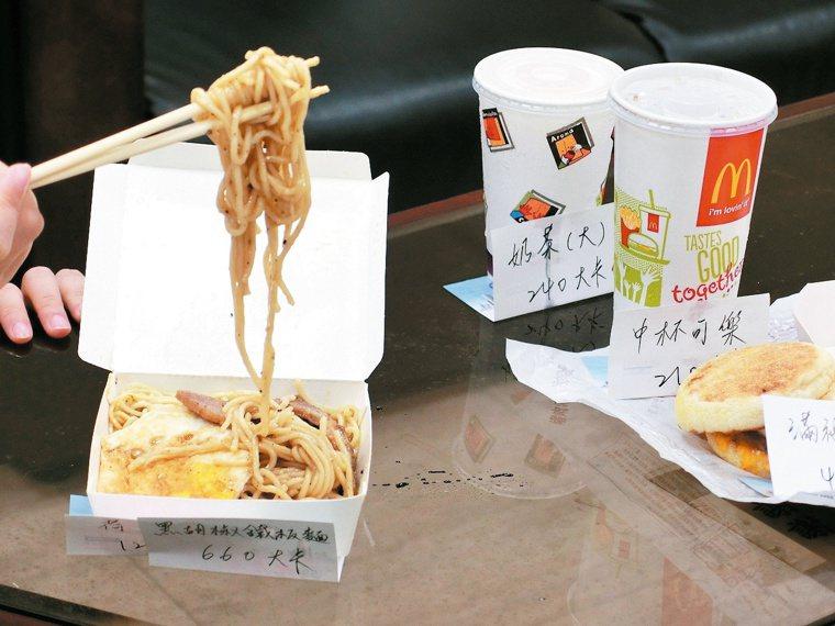 一份豬排鐵板麵就要660大卡,超過一般兒童一餐攝取量。 圖/李彥秀提供