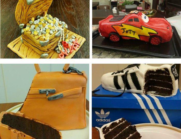 蔡依林喜愛自己動手做翻糖蛋糕,無論是藏寶盒、卡通車、包包、鞋子等都十分逼真。 翻...