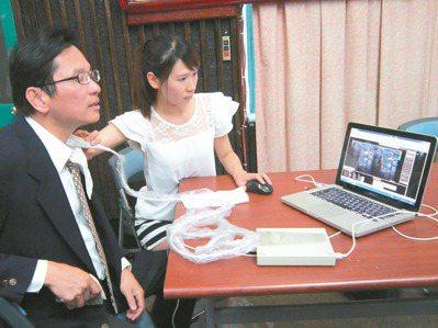 台大工業工程學研究所教授陳正剛(左),耗時10年研發「甲狀腺結節電腦輔助偵測診斷...
