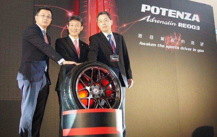 台灣普利司通正式發表全新性能胎系列POTENZA Adrenalin RE003。 記者林翊民/攝影