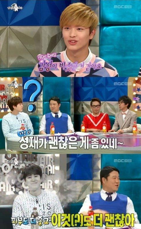 在昨天(27日)播出的談話節目《黃金漁場》中,BTOB成員陸星材展示了對該節目主持人位置的野心,對現任主持人Super Junior成員圭賢入伍日期的一再追問引發爆笑。節目中,當MC們提及「據說對圭...