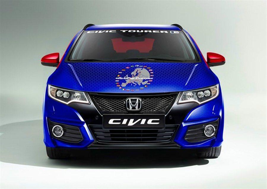 省油挑戰車輛為搭載1.6 i-DTEC引擎的Civic Tourer車款,除車身彩繪外,與市售車款完全一樣,並無任何改裝。 HONDA提供