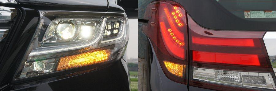 車頭採用LED頭燈組,車尾也加入LED導光尾燈,提升不少夜晚的視覺效果。 記者林翊民/攝影